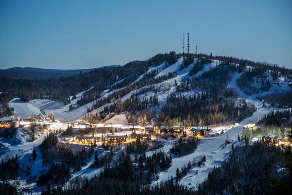 Lutsen Mountains Ski Resort at night