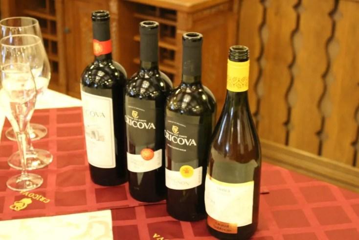 Wine tasting at Cricova