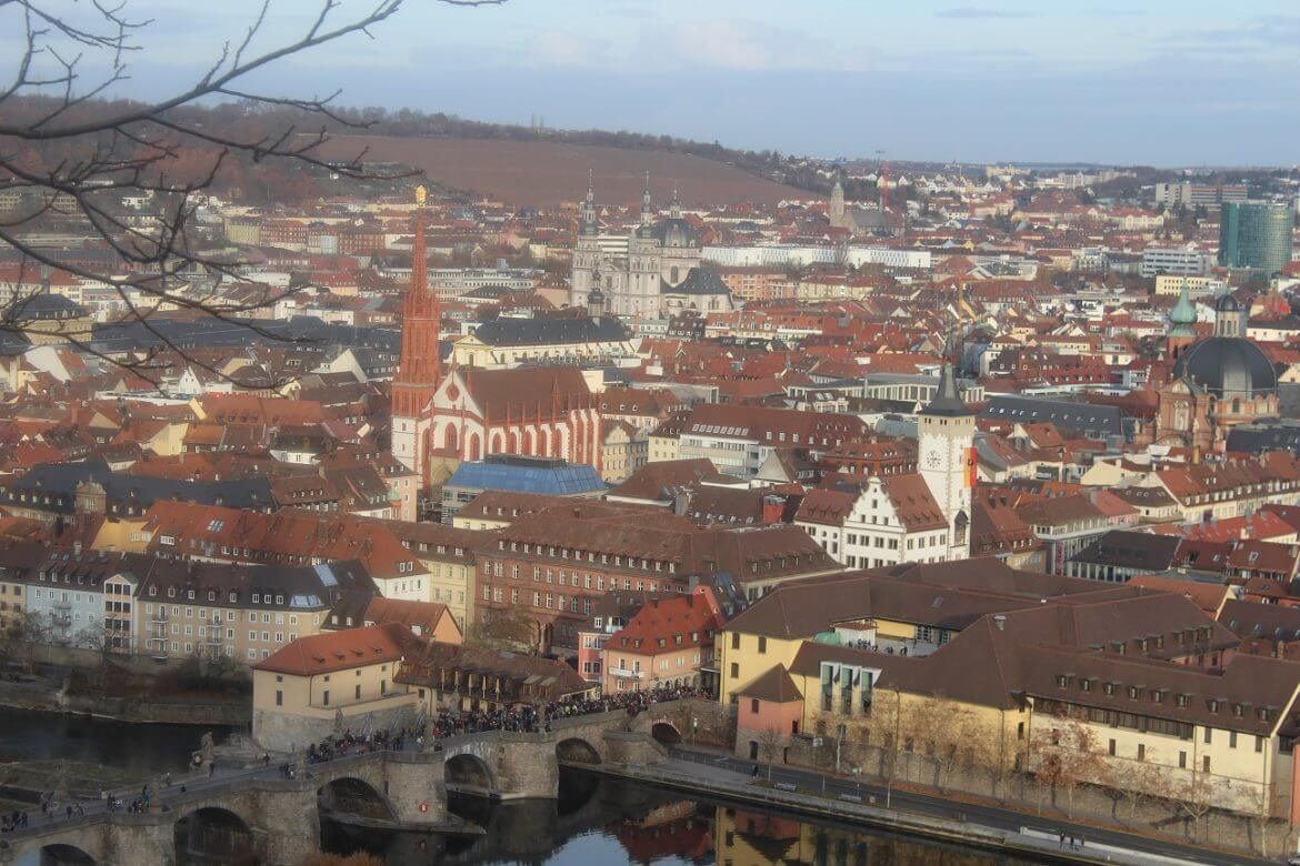 Wurzburg seen from the citadelle