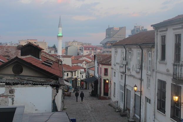 Ottoman bazaar from the hill to the Citadelle