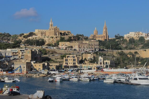 Gozo Island seen from the ferry