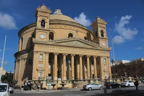 Mosta Dome that survived bombing in WWII