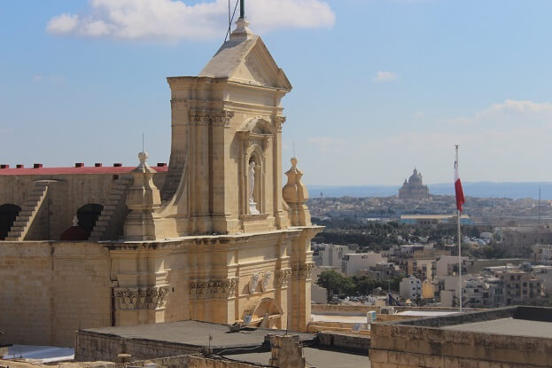 View from the citadelle in Victoria, Gozo Island