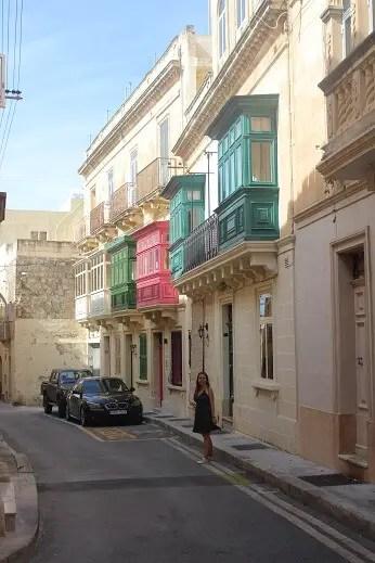 Colorful balconies in Rabat, Malta