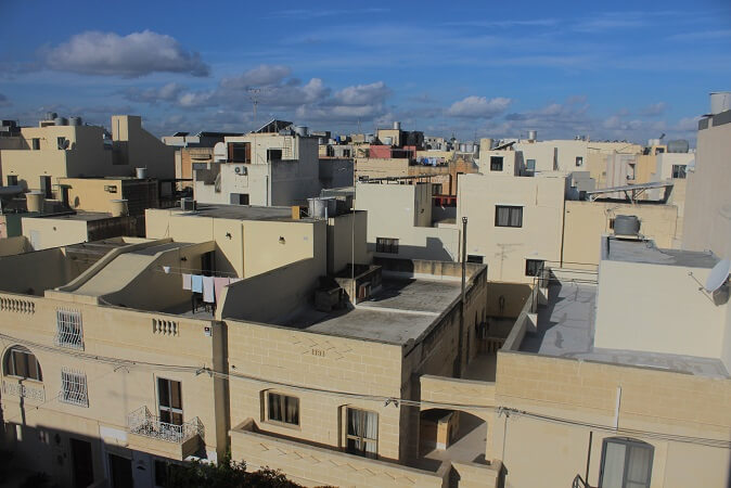 View over Tarxien. The buildings are similar to the ones in Moricco