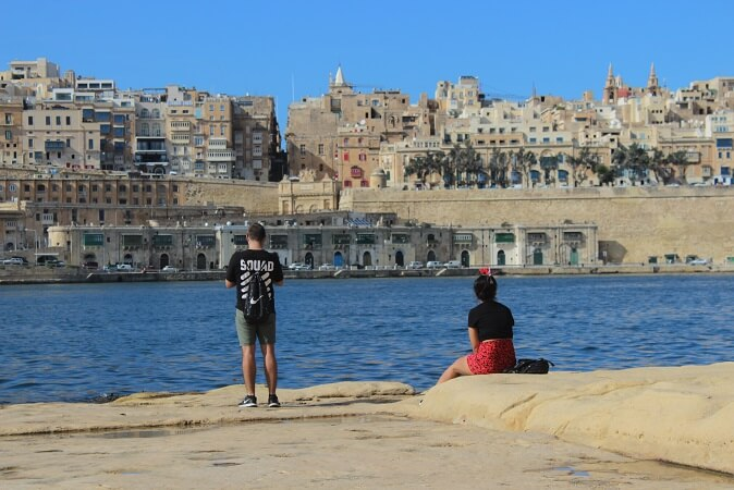 Valletta seen from the Three Cities