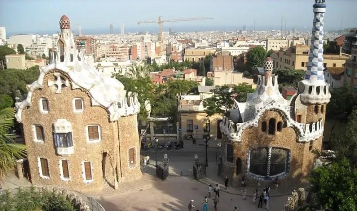 Park Guell Barcelona Gaudi Spania