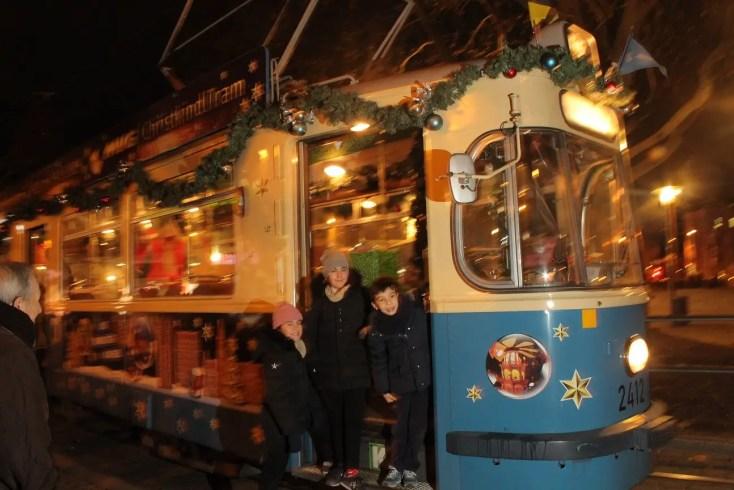 Christmas tram Sendlinger Tor Munich