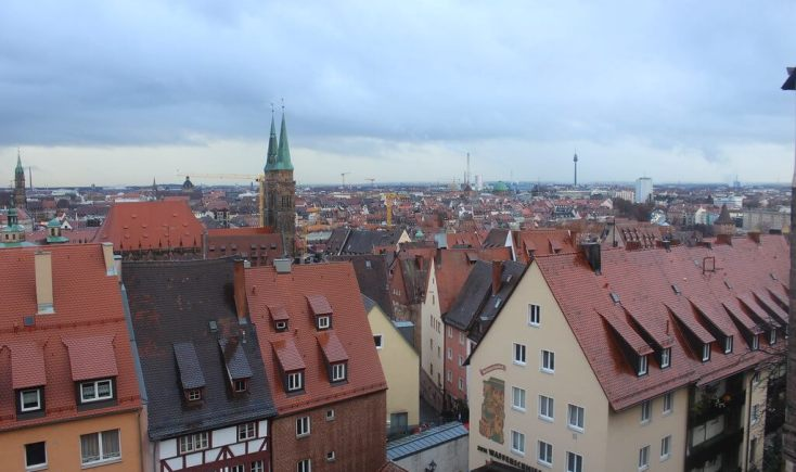 View of the city from the castle, Germany
