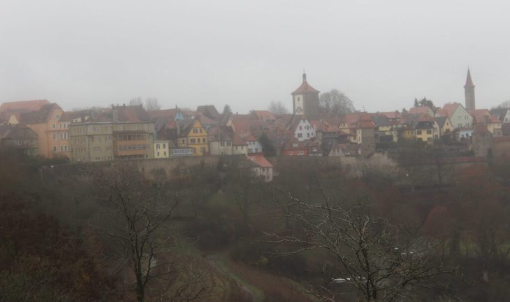 Image of Rothenburg ob der Tauber from the Gardens of the Old Castle