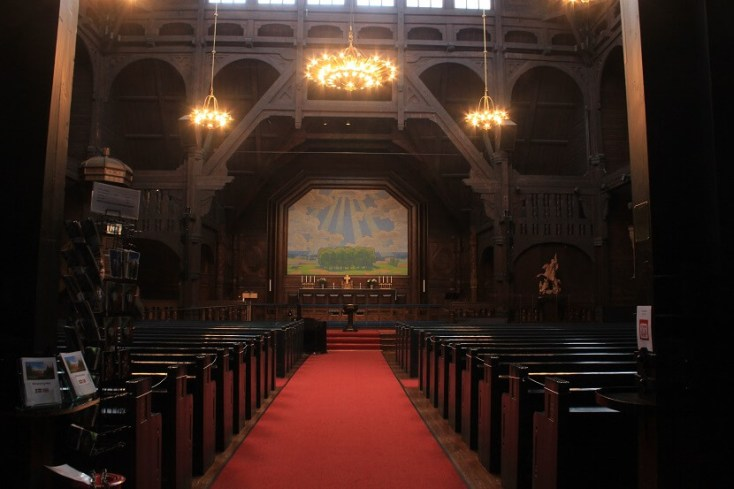 Interiorul bisericii din Kiruna