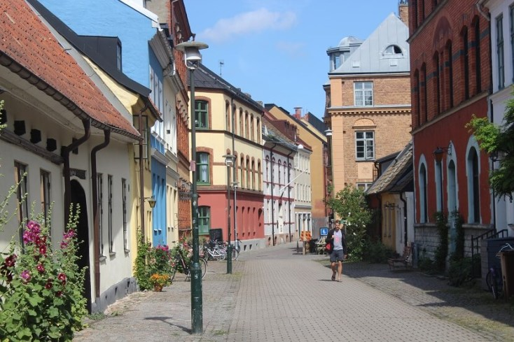 Colorful street in Malmo