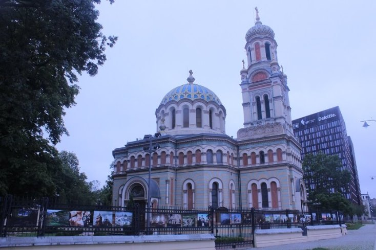 The colorful Alexander Nevsky Cathedral