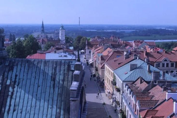 Panoramic view of Sandomierz from Opatowska Gate