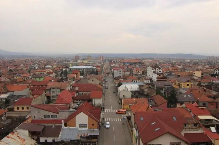 Panorama Drobeta-Turnu Severin de pe terasa Castelului Apelor