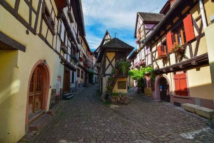 Equisheim main street, Alsacia