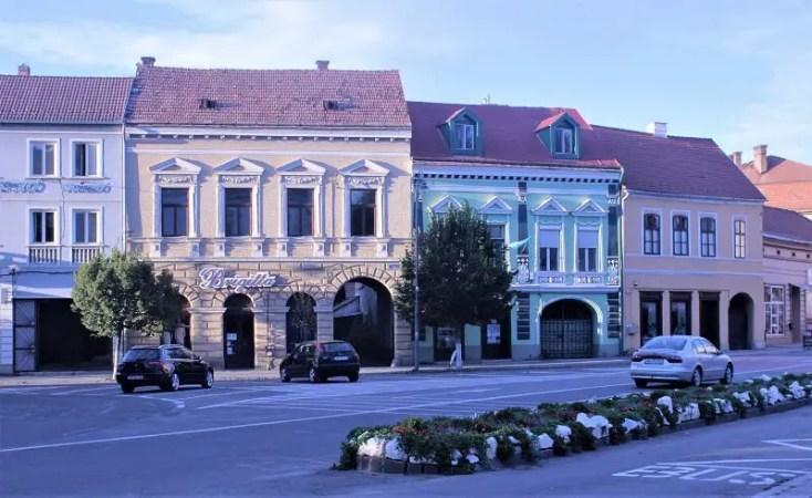 Stradute centrale din municipiul Odorheiu Secuiesc, Harghita