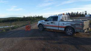 Mudslide road closure