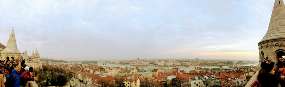 Panoramic view of Budapest from Fisherman's Bastion
