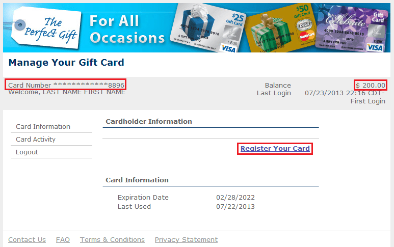 my gift card site