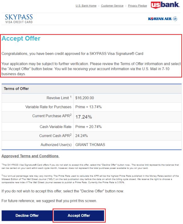 Korean Air Visa Signature Card Annual Fee | Applydocoument co