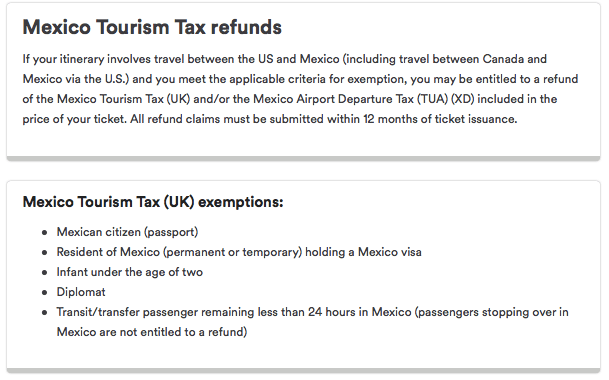Description of tax refund eligibility requirements on the Alaska Airlines website.