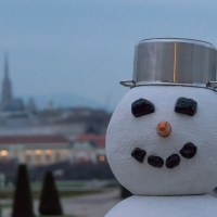 Sharing the View with a Snowman