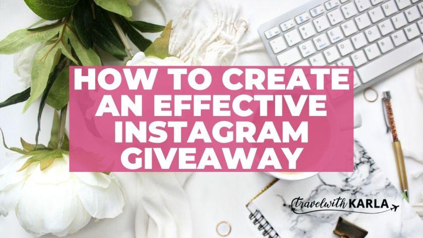 Effective Instagram Giveaway