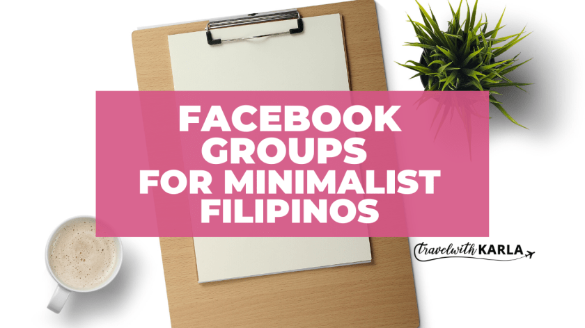 Facebook Groups for Minimalist Filipinos