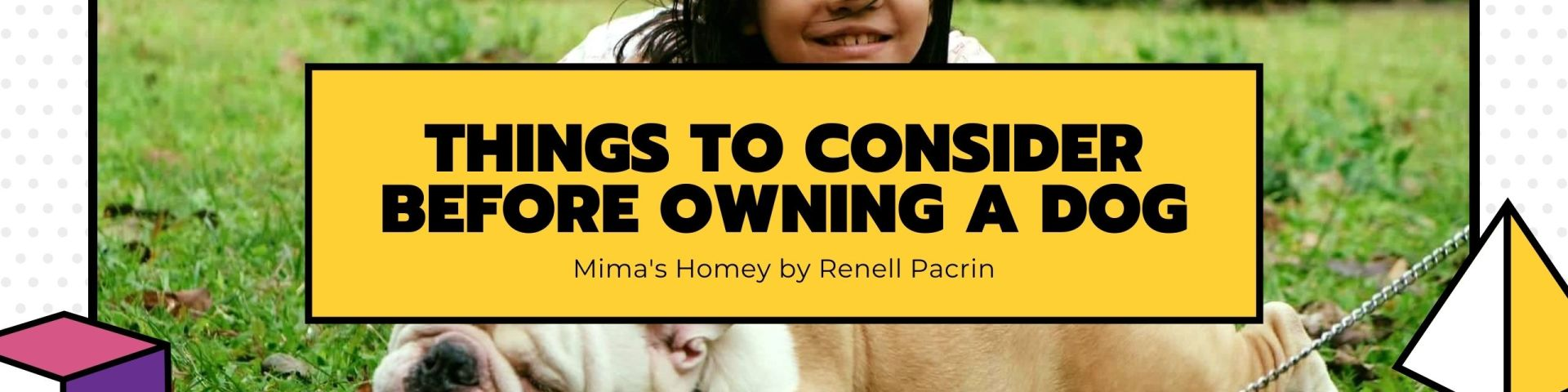 things to consider before owning a dog