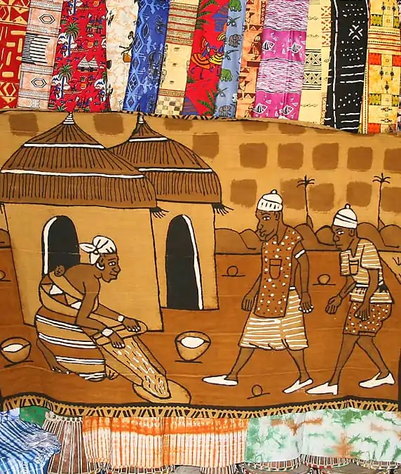 The bright colours and delightful patterns of Senegalese textiles