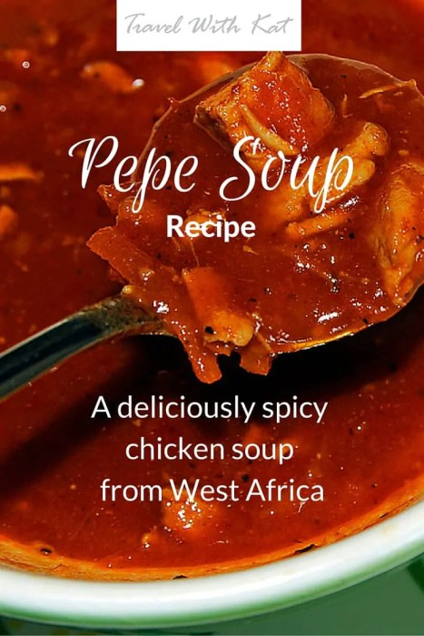 Pepe Soup - a deliciously spicy chicken soup from West Africa