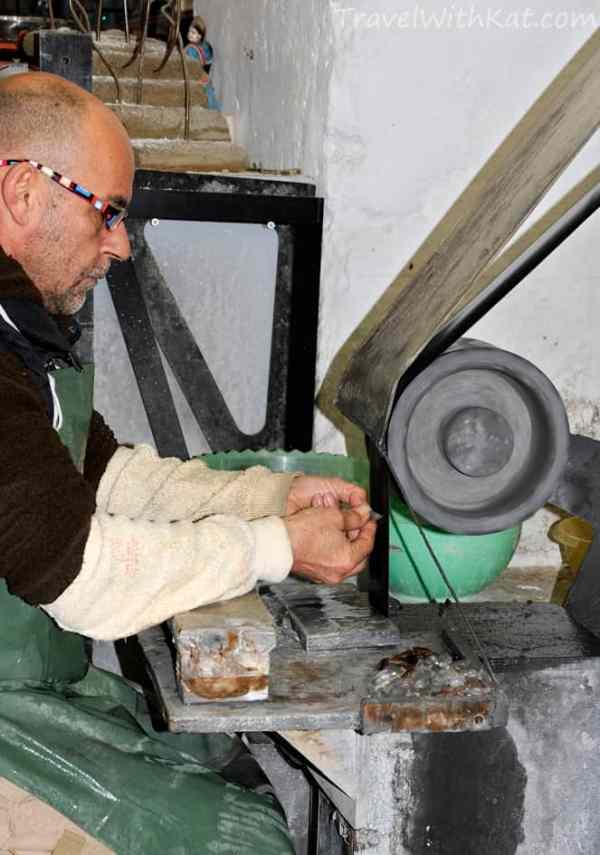 Peppino Campanella in his workshop