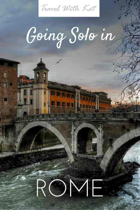 Travelling solo in Rome