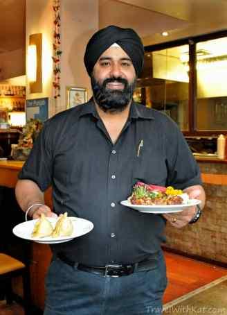 Satu, our waiter at Mela Restaurant