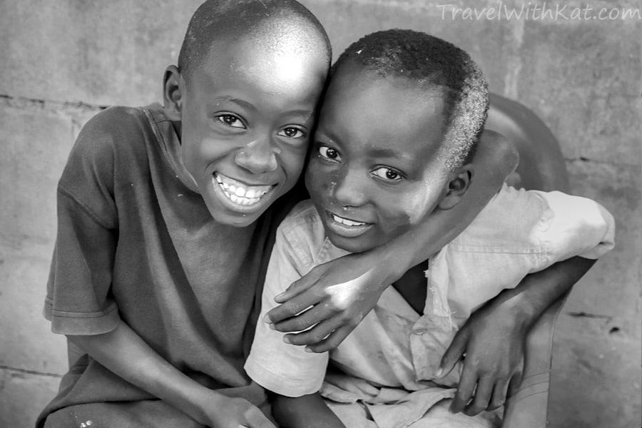 Gambian boys, Dairuharu, Brikama, The Gambia