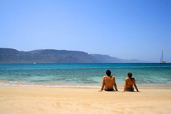 Playa de la Francesa. Parque Natural del Archipiélago Chinijo. La Graciosa. Lanzarote.