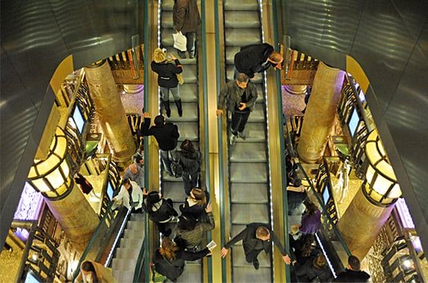 Harrods Egyptian escalator