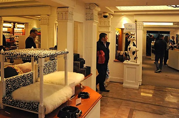 Harrods pet department and spa