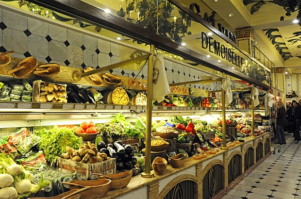 Harrods food halls, fruit and vegetables