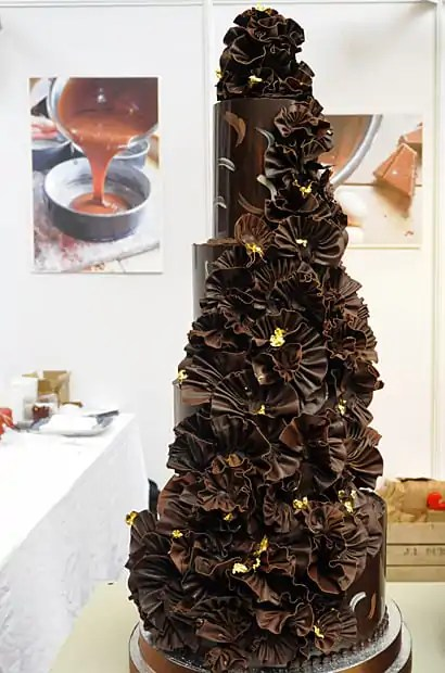 Fleur de Sel, wedding cake of chocolate