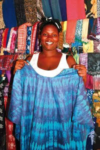 Haggling in the market in The Gambia