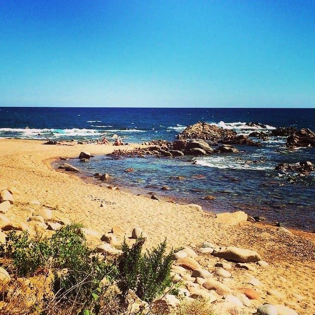 A quiet beach on the east coast near San Cyprien