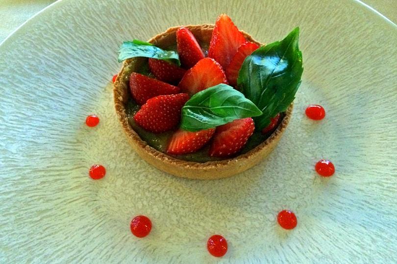 Tarte aux fraises citron vert-basilic