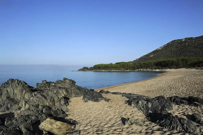 Usciapa beach, Corsica