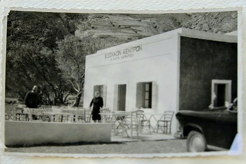 Irini's Restaurant, the first restaurant in Kamari, Santorini