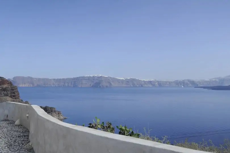 view of Santorini's caldera from Manolis, Therasia, Santorini, Greece
