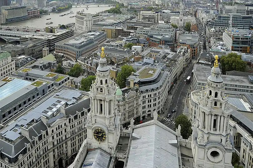 View from St Paul's Golden Gallery