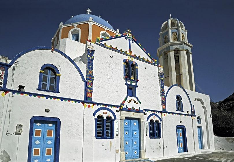 The church of Akrilia, Thirassia, Santorini, Greece