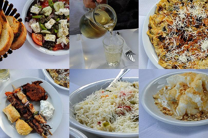 Thirassia feast, Santorini cuisine